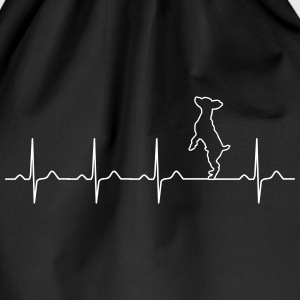 Pinscher heartbeat - dog - pet - owner love Bags & Backpacks - Drawstring Bag