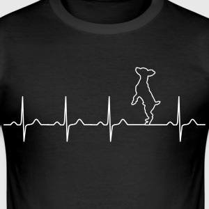 Pinscher heartbeat - hundeeieren - pet - elsker T-skjorter - Slim Fit T-skjorte for menn