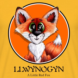llwynogyn - a little red fox (black) - Männer T-Shirt