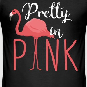 Flamingo - Pretty in Pink T-Shirts - Männer Slim Fit T-Shirt