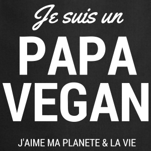 papa-vegan (couleur modifiable) Tabliers - Tablier de cuisine