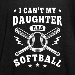 I can't my daughter has Softball Topper - Singlet for kvinner fra Bella