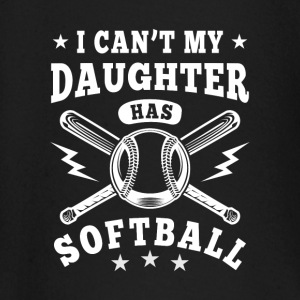 I can't my daughter has Softball Langærmede shirts - Langærmet babyshirt