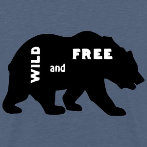 Bär wild and free - Teenager Premium T-Shirt