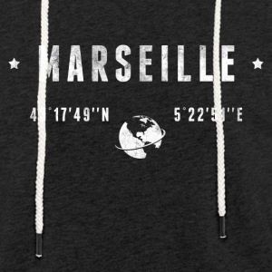 Marseille Sweat-shirts - Sweat-shirt à capuche léger unisexe
