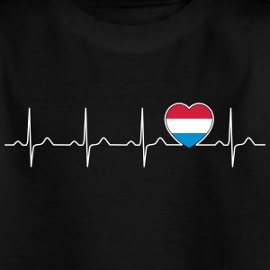 Luxemburg vlag heartbeat - natie - vlag-Herz Shirts - Teenager T-shirt