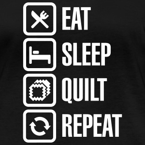 Eat Sleep Quilt Repeat Long Sleeve Shirts - Women's Organic Longsleeve Shirt by Stanley & Stella