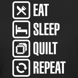 Eat Sleep Quilt Repeat T-Shirts - Frauen Bio-T-Shirt