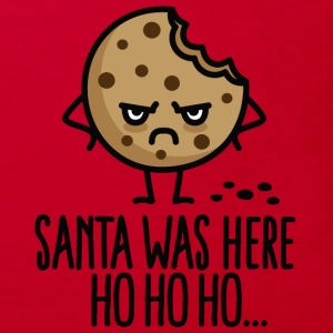 Santa was here Ho ho ho - Cookie T-shirts - Organic børne shirt