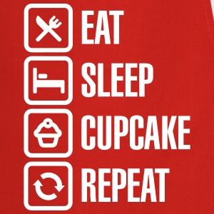 Eat Sleep Cupcake Repeat Delantales - Delantal de cocina