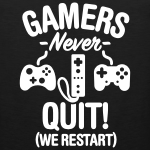 Gamers never sleep, we restart Sports wear - Men's Premium Tank Top