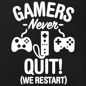 Gamers never sleep, we restart T-shirts - Organic børne shirt