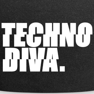 Techno DlVA Rave Princess Hard Techno Kind Music Caps & Mützen - Jersey-Beanie