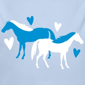 horse lovers with cute hearts Baby Bodysuits - Longsleeve Baby Bodysuit