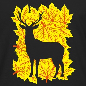 Deer made out of leaves Manches longues - T-shirt manches longues Premium Homme