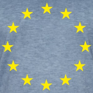 European Union Stars Flag - Men's Vintage T-Shirt