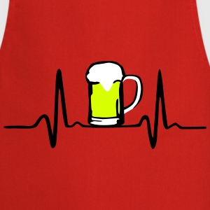 Beer and Heartbeat  Aprons - Cooking Apron