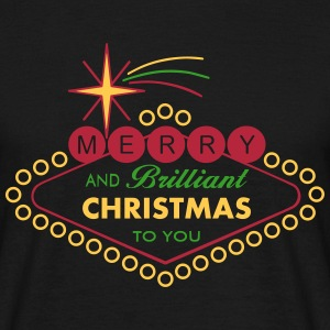Merry Christmas Vegas Style - filled T-Shirts - Männer T-Shirt
