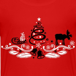 Christmas tree decoration with moose Shirts - Kids' Premium T-Shirt