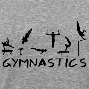 Men's Gymnastics T-shirts - Mannen Premium T-shirt