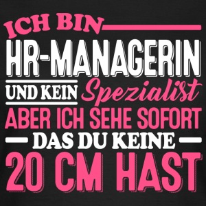 HR-MANAGERIN - 20cm  - Frauen T-Shirt