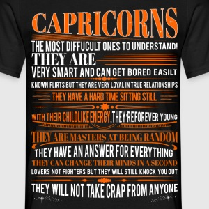 Capricorns Difficult Ones To Understand Zodiac T-Shirts - Men's T-Shirt