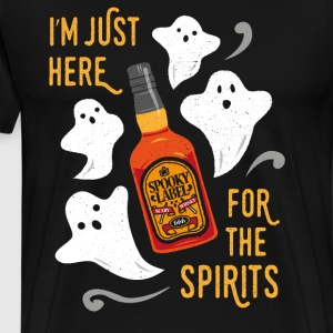 I'm just here for the spirits. Funny Halloween. - Men's Premium T-Shirt