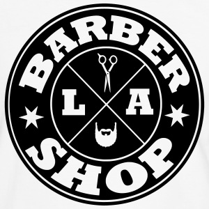 barbershop los angeles Tee shirts - T-shirt contraste Homme