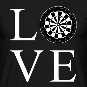 Darts Love T-Shirts - Männer T-Shirt