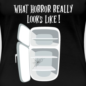 Horror empty fridge - Frauen Premium T-Shirt
