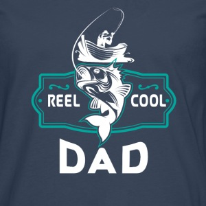Reel cool dad - angler boat gift Manches longues - T-shirt manches longues Premium Homme