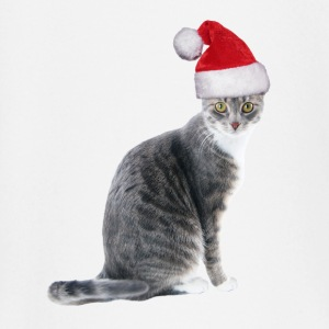 tabby cat with santa hat - Baby Langarmshirt