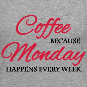 Coffee because monday happens every week Long Sleeve Shirts - Women's Premium Longsleeve Shirt