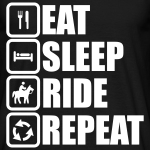 eat sleep ride repeat,Reiter,pferde T-Shirts - Männer T-Shirt