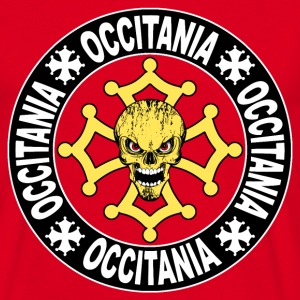Occitania skull cross 08.png Tee shirts - T-shirt Homme