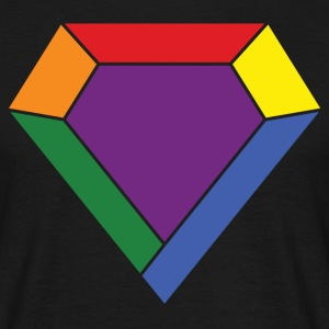 Rainbow LGBT Diamond T-Shirts - Men's T-Shirt