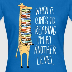 Another level of reading - giraffe - Women's T-Shirt