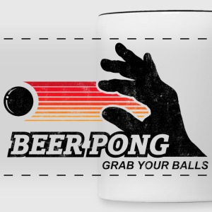 BEER PONG, GRAB YOUR BALLS Mugs & Drinkware - Panoramic Mug