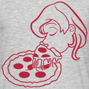 girl woman girl cheese threads hunger piece salami T-Shirts - Men's T-Shirt