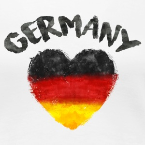 GERMANY HEART WATERCOLOR T-Shirts - Women's Premium T-Shirt