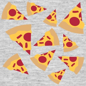 cool design pattern many hunger chili pieces pizza T-Shirts - Men's T-Shirt