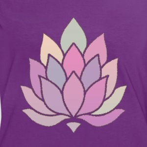Lotus Yoga Meditation T-Shirts - Frauen Kontrast-T-Shirt