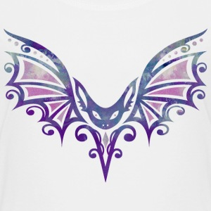 Fledermaus im Tattoo Design. Watercolor, Halloween T-Shirts - Teenager Premium T-Shirt