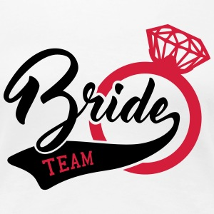 Team bruden - bruden - bryllup - ring - engageret T-shirts - Dame premium T-shirt