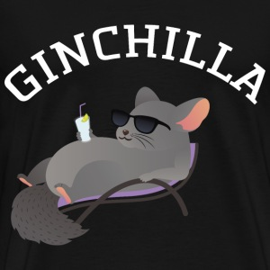 Ginchilla - Funny Chinchilla With Gin Drink Tee shirts - T-shirt Premium Homme