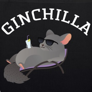 Ginchilla - Funny Chinchilla With Gin Drink Borse & Zaini - Borsa ecologica in tessuto