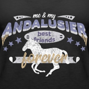 Andalusier Pferd Pferdebesitzer best friends BFF Tops - Frauen Premium Tank Top