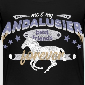 Andalusier Pferd Pferdebesitzer best friends BFF T-Shirts - Kinder Premium T-Shirt