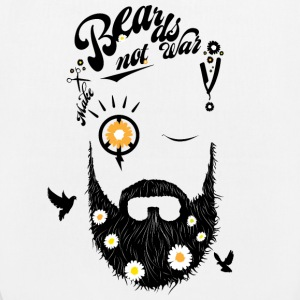 Make Beards Not War - Bio-Stoffbeutel