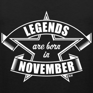 Legends are born in November (Anniversaire Cadeau) Vêtements de sport - Débardeur Premium Homme